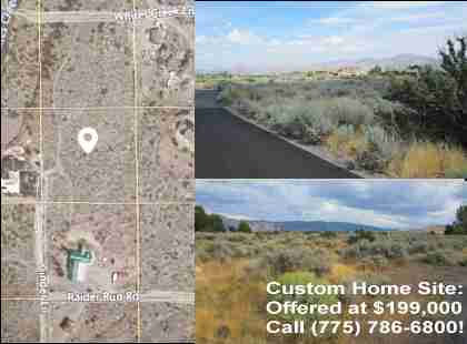 Reno Custom Home Lot For Sale - Cinder Lane Reno NV 89511